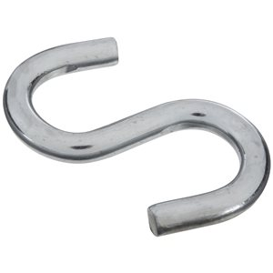 National Hardware N347-849- 2076 Open S Hooks in Zinc Plated