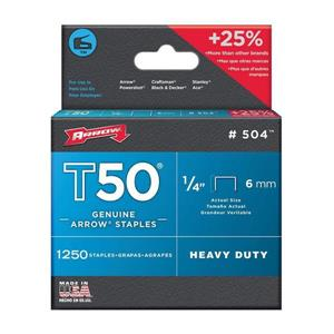 T50 1/4-in Heavy-Duty Staples (1,250-Count)