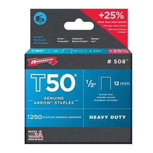 T50 1/2-in Heavy-Duty Staples (1,250-Count)