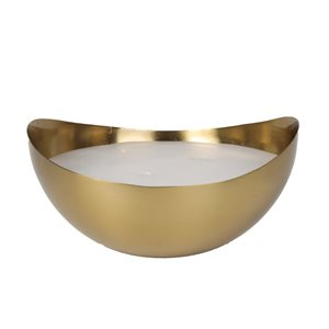 allen + roth Oval Candleholder - Metal - 3.7-in x 8-in x 7.7-in - Gold