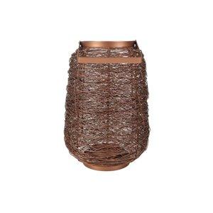 allen + roth Small Wire Lantern - Mild Steel - 8.4-in x 12-in - Copper