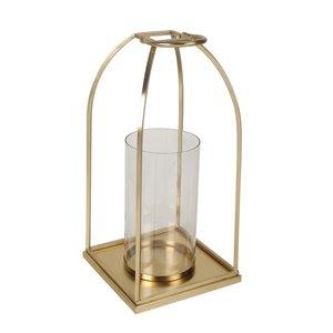 allen + roth  Large Golden Wire Lantern - 9.4-in x 15.6-in