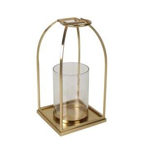 allen + roth Small Golden  Wire Lantern - 8.4-in x 16-in
