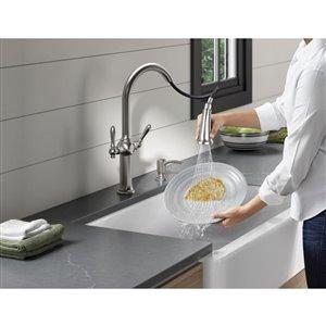 KOHLER Neuhaus Vibrant Stainless 2-Handle Pull-Down Kitchen Faucet