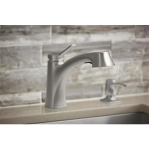 KOHLER Maxton Vibrant stainless 1-Handle Pull-Out Kitchen Faucet