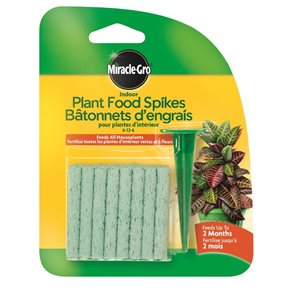Miracle-Gro Miracle-Gro Indoor Plant Food Spikes Tray 6-12-6