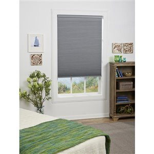 Allen Roth 1 5 In Gray Cordless Blackout Cellular Shade