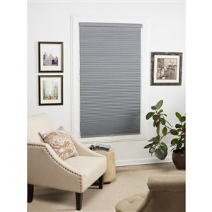 allen + roth 1.5-in Gray Cordless Blackout Cellular Shade