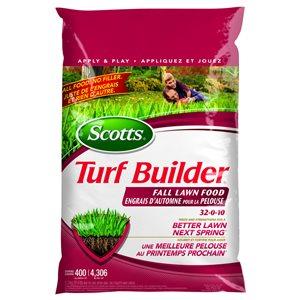 Scotts 4306-sq ft Turf Builder Fall Lawn Fertilizer (32 Percentage 0 Percentage 10 Percentage)