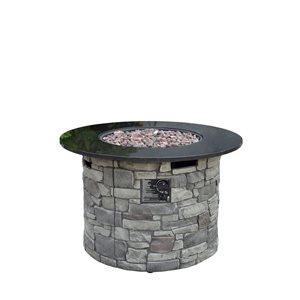 Bond Canyon Ridge Round Gas Fire Table Grey | Lowe's Canada