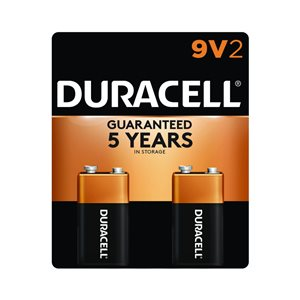 Duracell Coppertop PP3 (9V) Alkaline Battery (2-Pack)