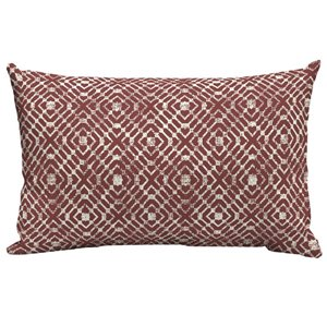 Style Selections Red Trellis Lumbar Cushion