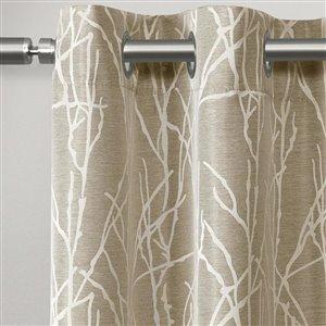 Design Decor Finesse Jacquard 84-inG Natural