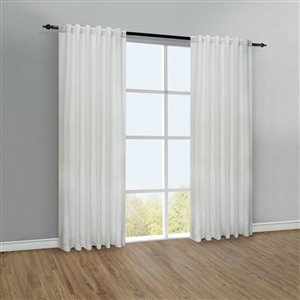 Legacy Mulberry Back Tab Curtain 54-in x 84-in White