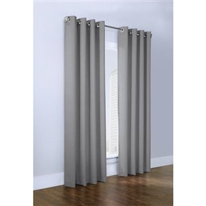 Legacy Mulberry Grommet Curtain 54-in x 95-in Grey