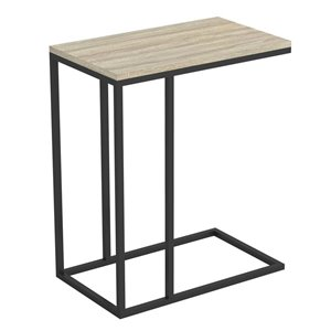 Safdie & Co Accent Table-C Shaped 20L-Dark Taupe