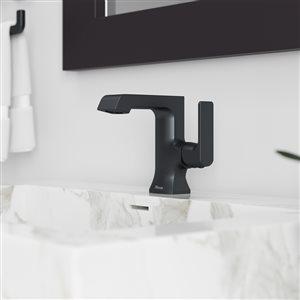 Pfister Penn Single Control 4-in Centerset Bathroom Faucet in Matte Black