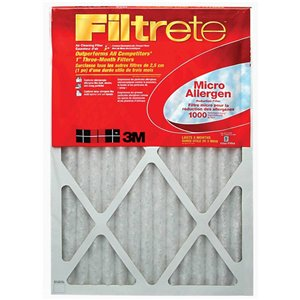 3M 24-in x 16-in x 1-in 1000 MRP Micro Allergen Reduction Electrostatic Pleated Air Filter