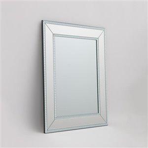 The Vanity Beaded Mirror On Mirror 24-in x 30-in