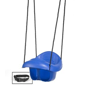 PlayStar Blue and Black Infant Swing