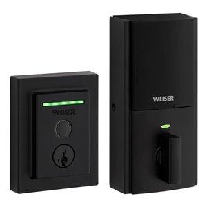 Weiser Halo Touch Contemporary Fingerprint Smart Lock in Matte Black