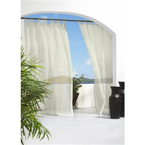 Outdoor Decor Outdoor Escape Tab Voile 54in x 84in Ivory