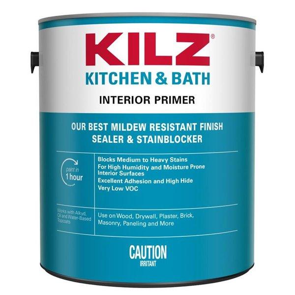 Kilz Kitchen And Bath Primer Lowe S, Primer For Bathroom Ceiling