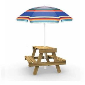 PlayStar Picnic Table RTA Kit with Umbrella