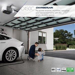 Chamberlain 1/2-HP Smart Phone-Controlled Chain Drive Garage