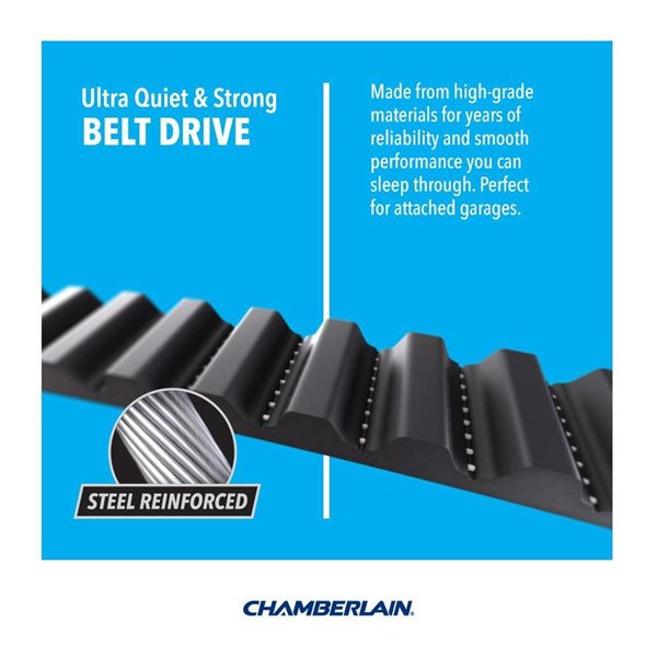 Chamberlain 1 2 Hp Belt Drive Garage Door Opener With Med Lifting Power Lowe S Canada