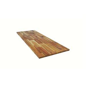 Q Solutions Acacia Straight Cut Kitchen Countertop