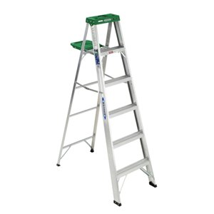 Werner 6-ft Type 2 - 225 lbs. Capacity Aluminum Step Ladder