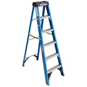 Werner 6-ft Fiberglass Single Sided Type I Step Ladder