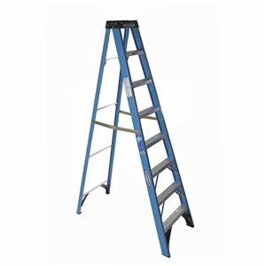 Werner 8-ft Type 1 - 250 lbs. Capacity Fiberglass Step Ladder