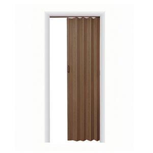 Spectrum 24-in to 36-in x 80-in Nutmeg Vinyl Folding Closet Door