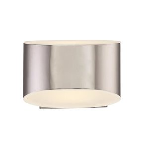 Eurofase 6.25-in W 1-Light Chrome Ambient Hardwired Wall Sconce