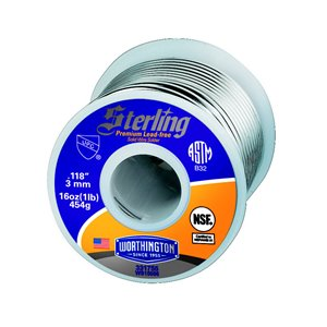 Worthington Cylinders 1-lb Sterling Premium Lead-Free Solid-Wire Solder
