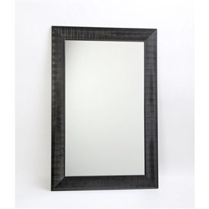 Hudson Black Decorative Mirror 23.3-in x 35.3-in