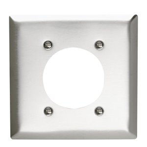 Legrand 2-Gang Single Receptacle Wall Plate (Stainless Steel)