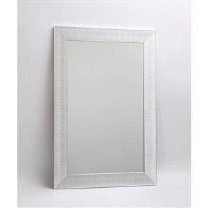 Hudson Chrome Decorative Mirror 23.3-in x 35.3-in