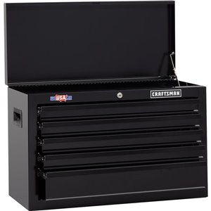 CRAFTSMAN 27-in W x 17.25-in H - 5 Drawer Steel Tool Chest (Black)