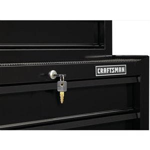 CRAFTSMAN 27-in W x 32.5-in H - 4 Drawer Steel Tool Cabinet (Black)