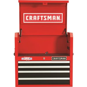 CRAFTSMAN 27-in W x 24.5-in H - 4 Drawer Steel Tool Chest (Red)