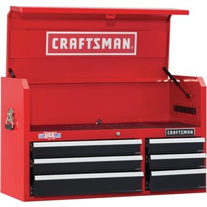 CRAFTSMAN 41-in W x 24.5-in H - 6 Drawer Steel Tool Chest (Red)