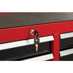 CRAFTSMAN 41-in W x 37.5-in H 10-Drawer Steel Tool Cabinet (Red)
