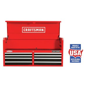 CRAFTSMAN 52-in W x 24.5-in H - 8 Drawer Steel Tool Chest (Red)