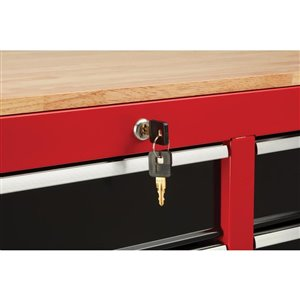 CRAFTSMAN 41-in W x 34-in H - 6 Drawer Steel Tool Cabinet (Red)
