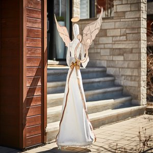 70-in Cool White LED White and Gold Angel
