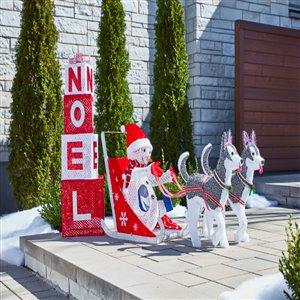 "46-in Warm White LED Mesh ""Noel"" Gift Boxes"