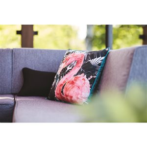18-in Flamingo Cotton Toss Pillow